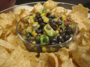 Black Bean, Corn and Avocado Salsa