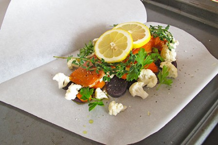 Smokey Salmon in Parchment Paper Packets