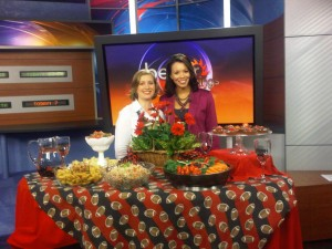 On the set of CBS Better Mornings Atlanta with Tracye Hutchins