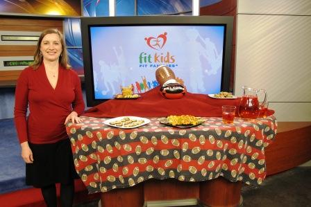 On the Set of CBS Better Mornings Atlanta for Tailgating with Kids