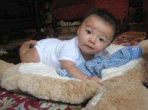 My son about 4 months old