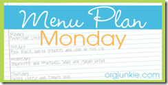 Menu Plan Monday–July 25