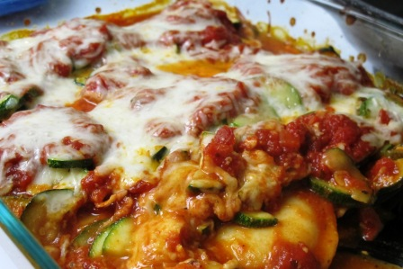 Eating on Vacation and Ravioli Zucchini Casserole