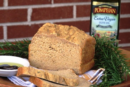 Rosemary Bread Recipe and Review of Pompeian Olive Oil