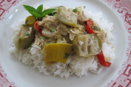 Slow Cooker Thai Chicken and Vegetable Curry