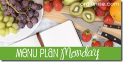 Menu Plan Monday–April 4