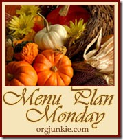 Menu Plan Monday–October 24