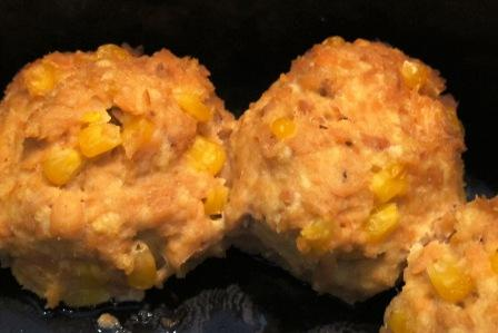 Corny Salmon Cakes in the Slow Cooker